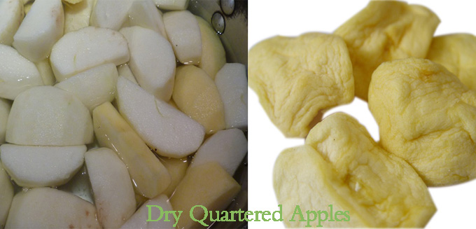 Dry Quartered Apples for Sale